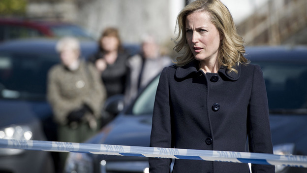 Gillian Anderson plays Stella Gibson, an enigmatic police investigator, in the BBC Two series The Fall. (Acorn RLJ Entertainment)