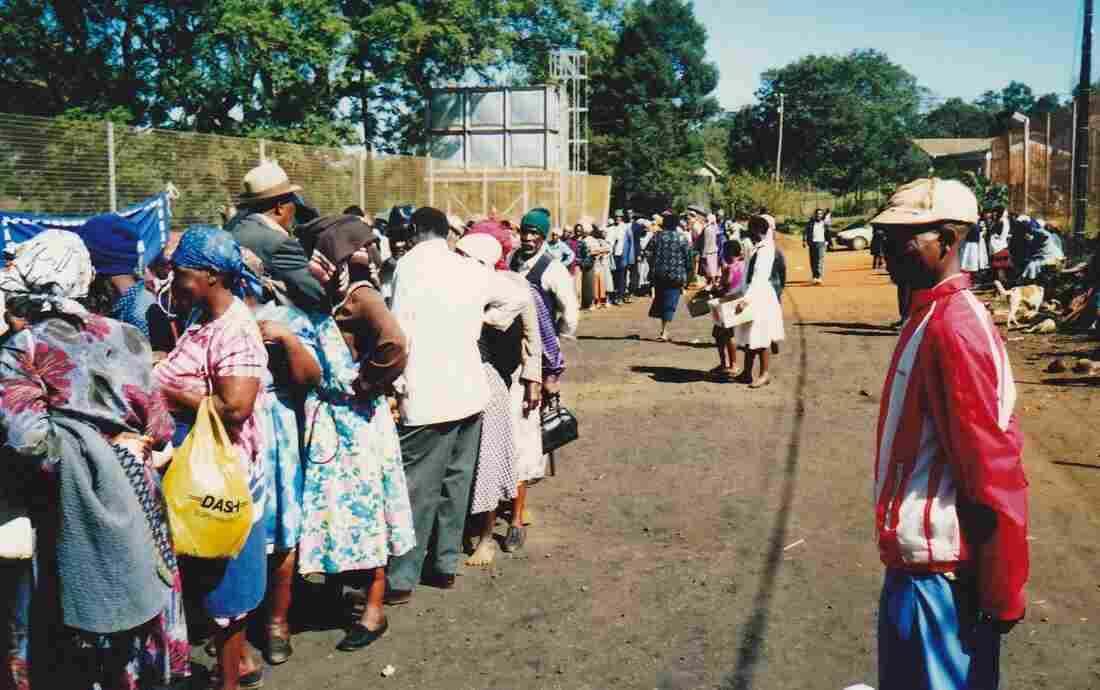 A South African voting line, April 1994.