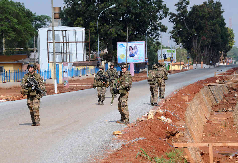 French troops patrolled the Central African Republic's tense capital