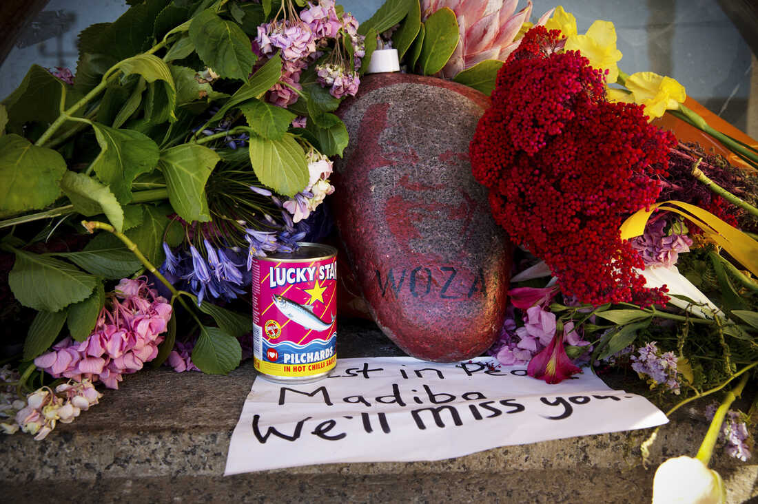 This was one of the very first tributes left at the City Hall in the early hours of the morning after Mandela's passing. Lucky Star Pilchards were one of Mandela's favorite foods. He often joked that he preferred very simple food and is rumored to have still eaten the same simple meals as he received when he was in jail.