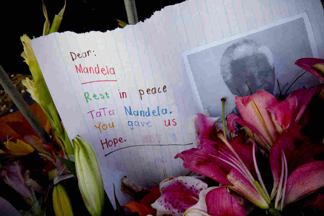 "Mandela is most often referred to by his clan name – Madiba – or as ""Tata"", which means father in the Xhosa (his tribe) language. This tribute says goodbye to a father."