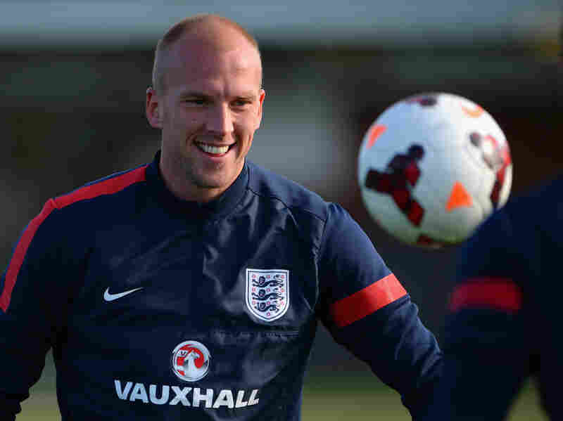 ST ALBANS, ENGLAND - OCTOBER 10: John Ruddy looks on during the England training session at London Colney on October 10, 2013 in St Albans, England. (Photo by Michael Regan - The FA/The FA via Getty Images)