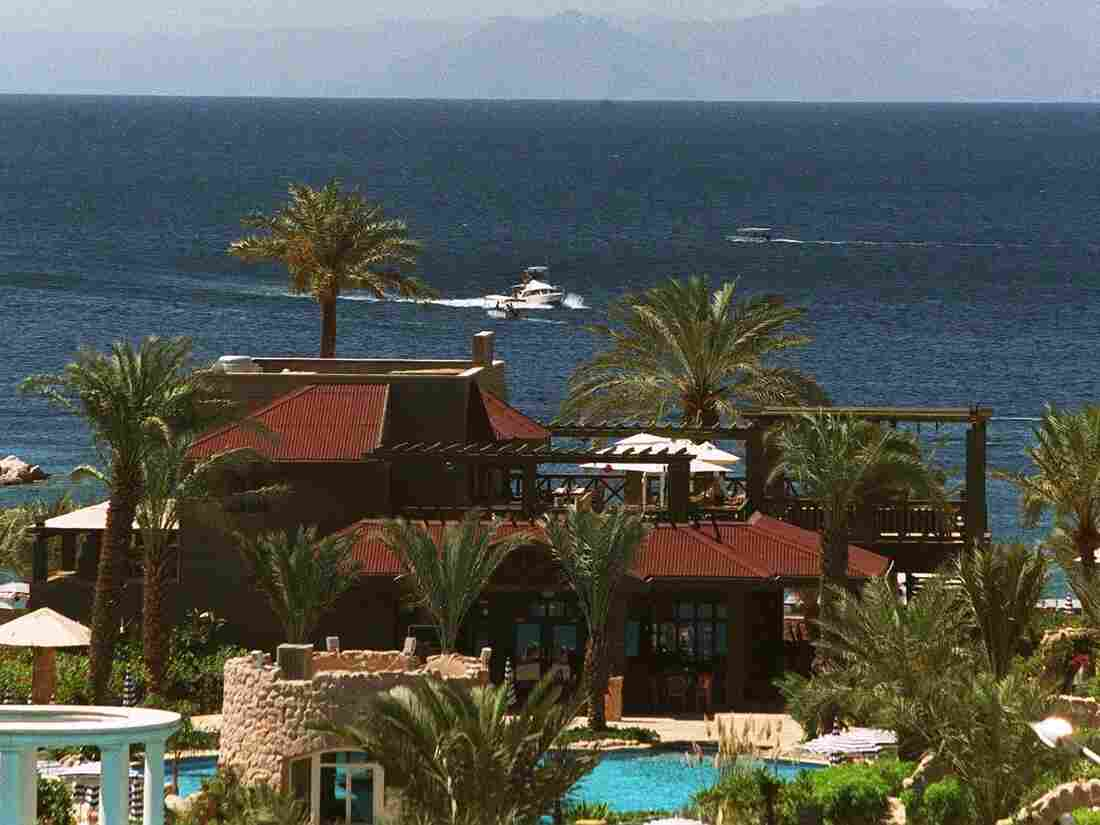 The Gulf of Aqaba, near the Jordanian city of the same name. Under a new agreement, Jordan would build a desalination plant near here.