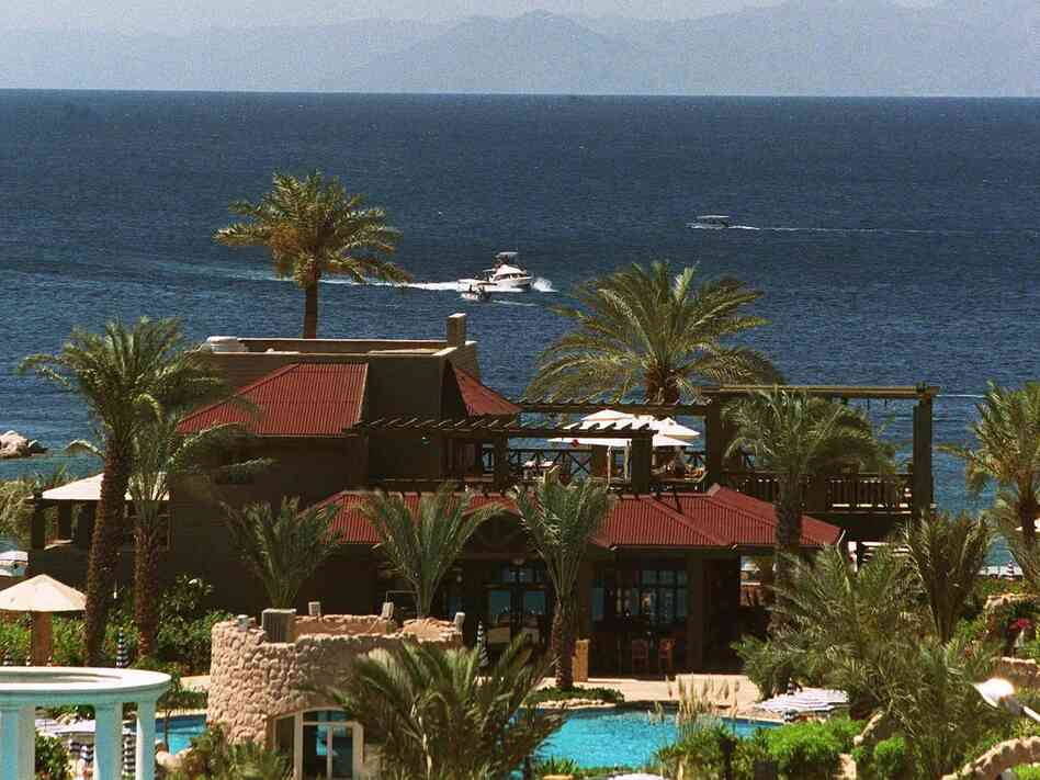 The Gulf of Aqaba, near the Jordanian city of the sam