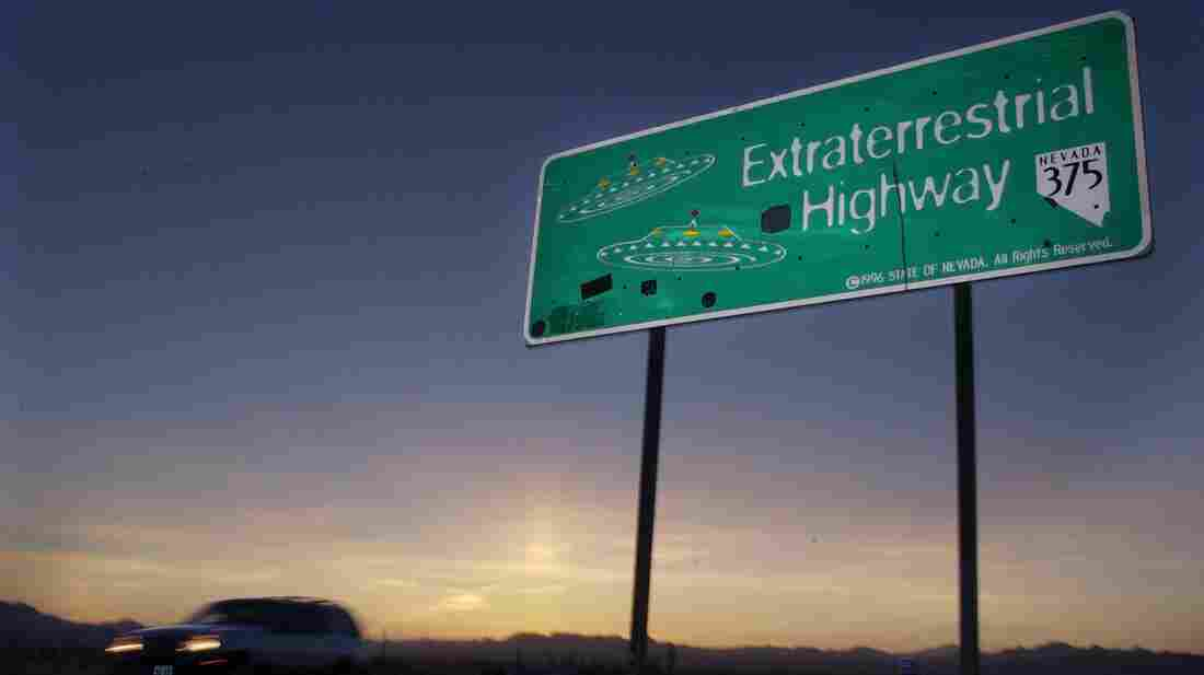 The Extraterrestrial Highway, so named because of reports of UFO activity along the road, runs along the eastern border of the top-secret Area 51 base in Nevada.