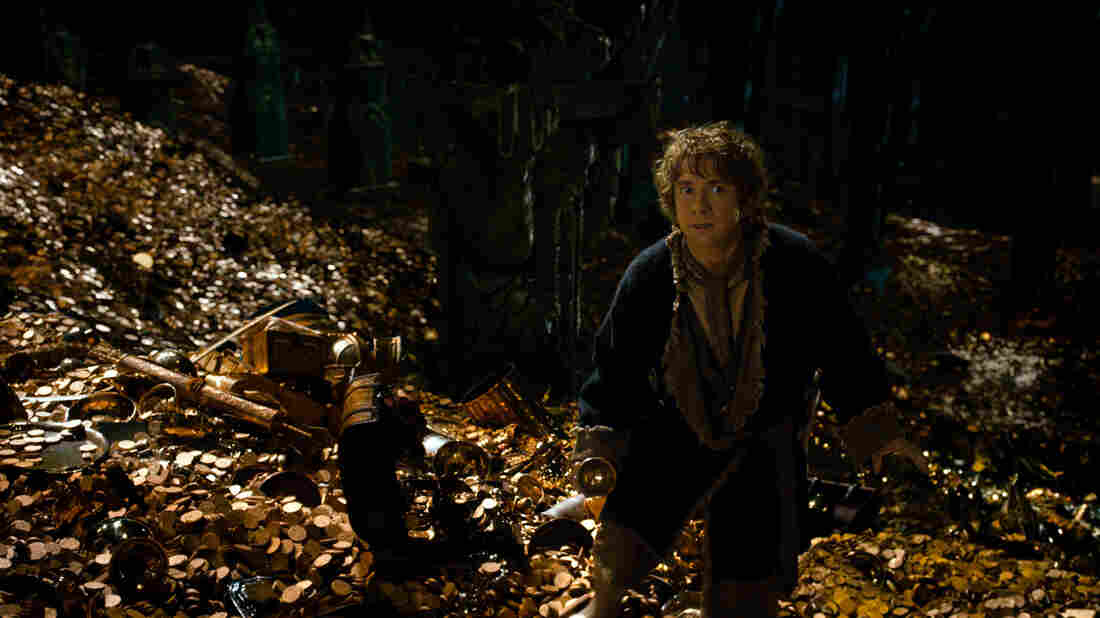 Bilbo Baggins (Martin Freeman) is back for the second installment of the Hobbit trilogy, this time actually spending some time with Smaug the dragon (voiced by Benedict Cumberbatch).