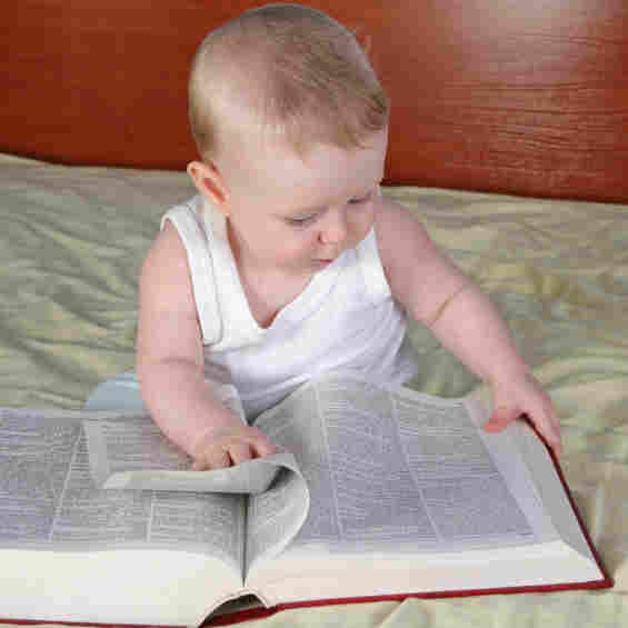 Whoever bought a dictionary for this baby did not consult NPR's Book Concierge.