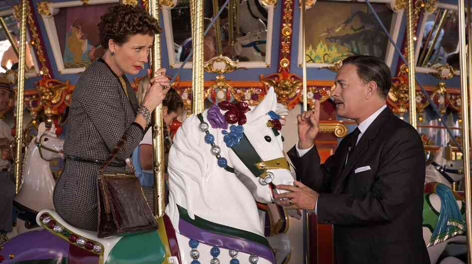 Saving Mr. Banks chronicles Walt Disney's (Tom Hanks) long campaign to persuade Mary Poppins author P.L. Travers (Emma Thompson) to allow his movie-musical adaptation of her books.
