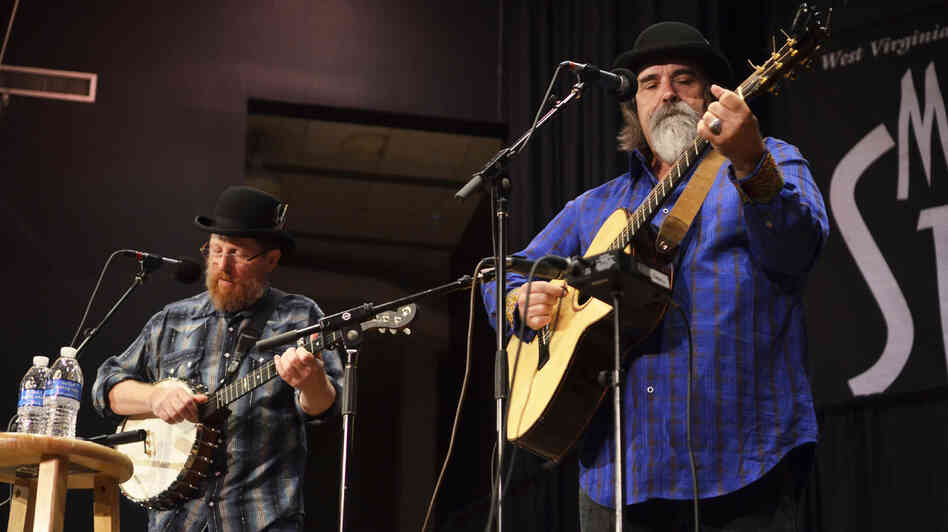 Tim O'Brien (left) and Darrell Scott perform live on Mountain Stage.