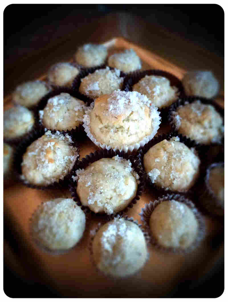 These lavender and lemon muffins smell heavenly and will draw hobbits to the table for afternoon tea.