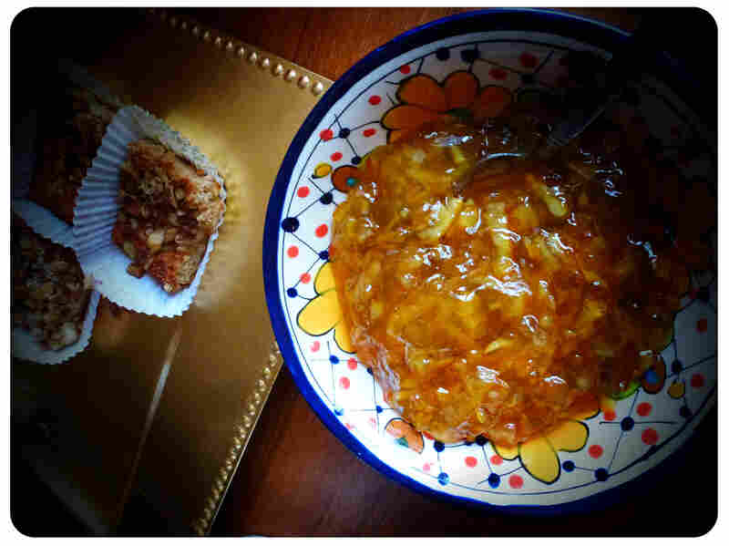First breakfast: Beorn's Honey Nut cake, served with orange marmalade