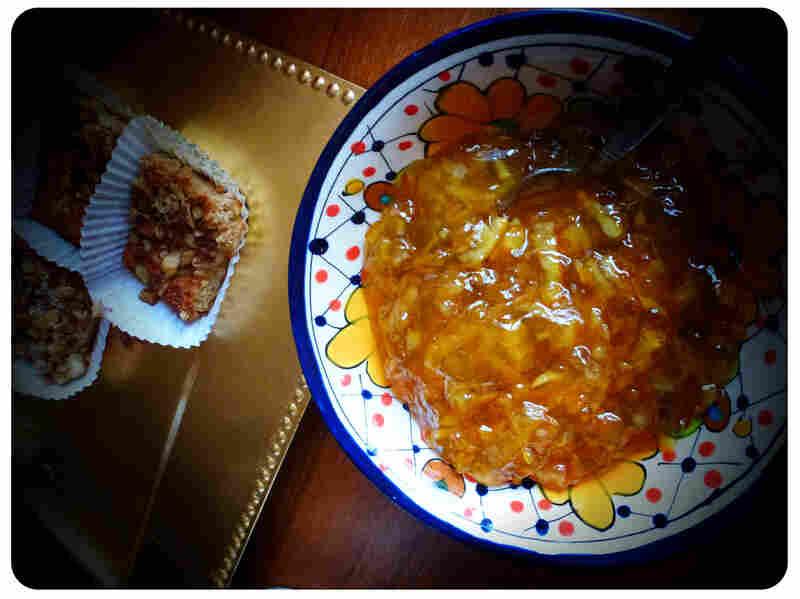 First breakfast: Beorn's Honey Nut cake, served with orange marmalade