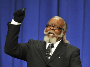 Jimmy McMillan ran for governor of New York state in 2010 as the candidate from the Rent is 2 Damn High party. (Party platform: The rent is too damn high!) The cost of renting a home is swallowing an ever larger portion of Americans' incomes.