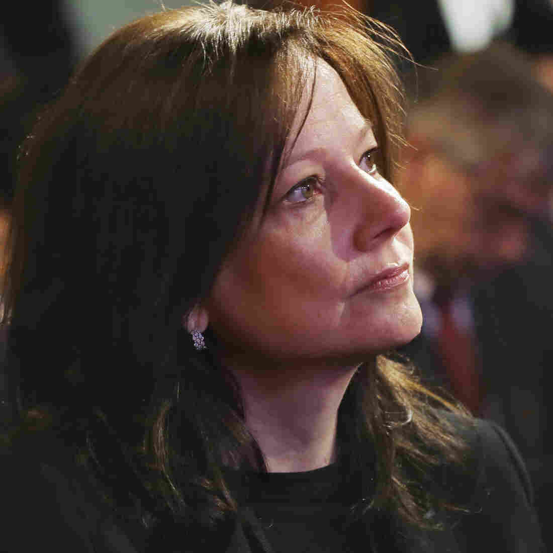 General Motors executive Mary Barra, seen here in January, will become the automaker's first female CEO. She will replace Dan Akerson, 65, who is retiring.