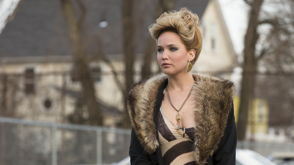 Jennifer Lawrence plays the wife of Bale's character, a woman who's not especially pleased about how complicated their lives have become. (Columbia Pictures)