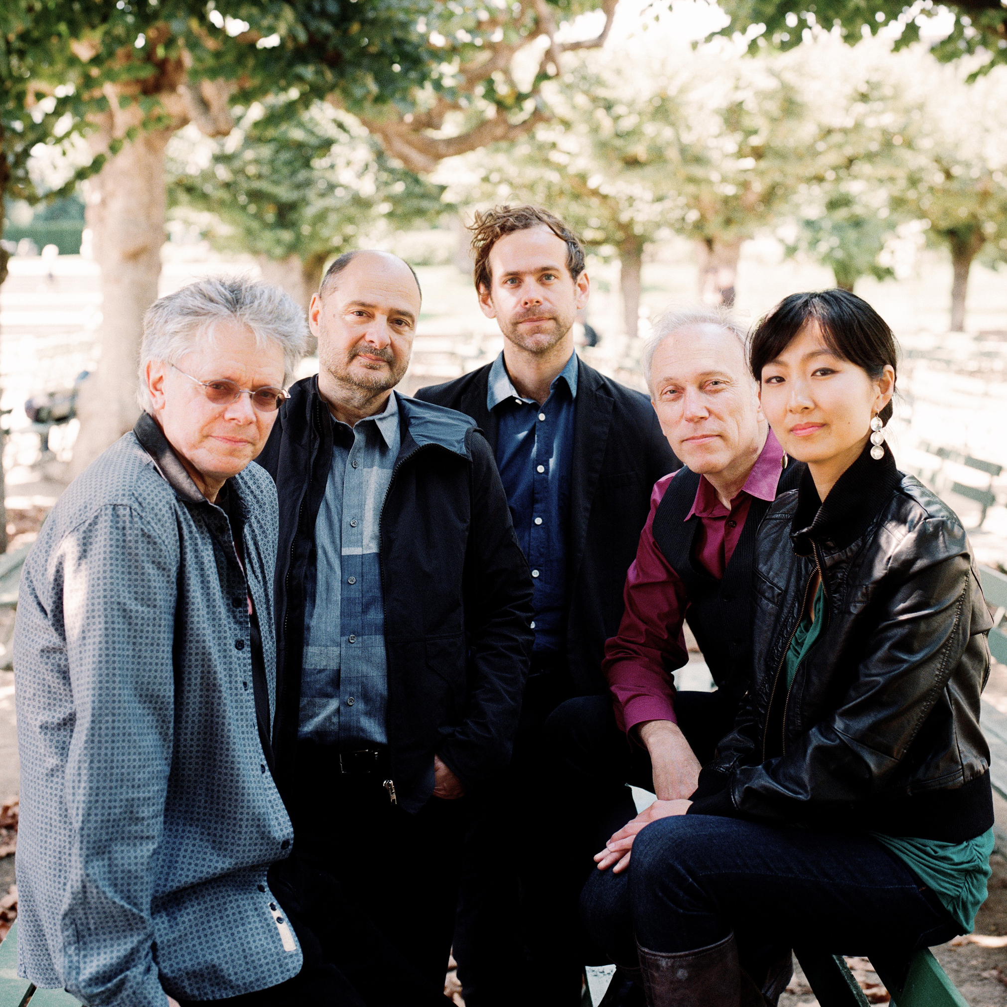 Kronos Quartet's Aheym was composed by Bryce Dessner (center) of the indie-rock group, The National.