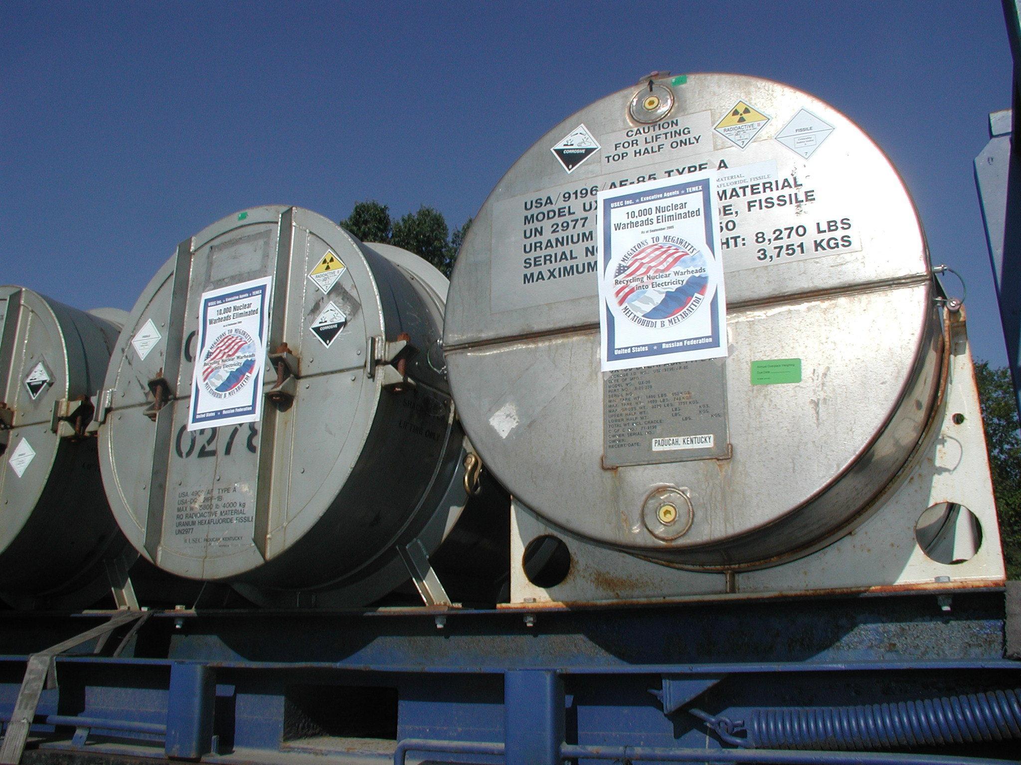 Megatons To Megawatts: Russian Warheads Fuel U.S. Power Plants