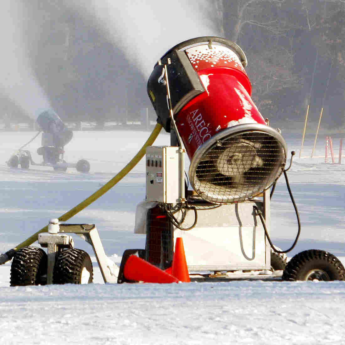 To Get Olympic Snow, Machines Give Nature A Nudge