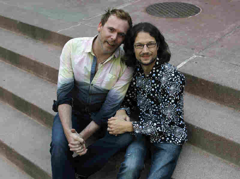 Dave Mullins (right) and his husband, Charlie Craig, pursued a discrimination complaint against Masterpiece Cakeshop, saying the bakery refused to make their wedding cake.