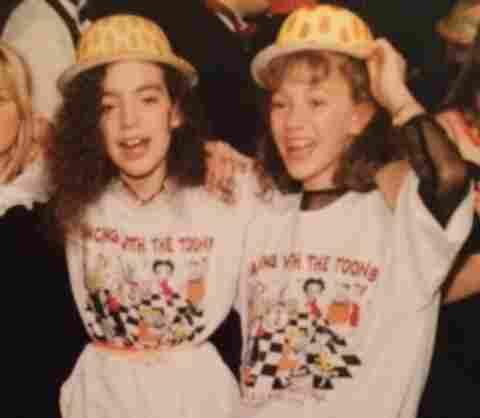 Jennifer and Rachel, at Jennifer's bat mitzvah.
