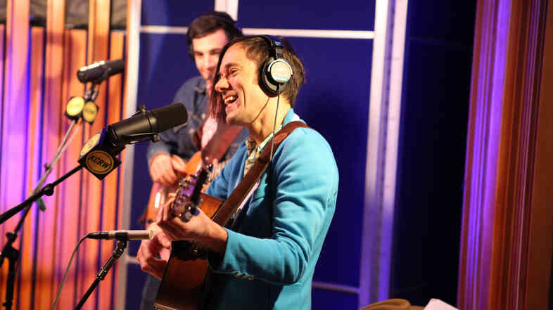 Of Montreal performs live at KCRW on Nov. 11, 2013.