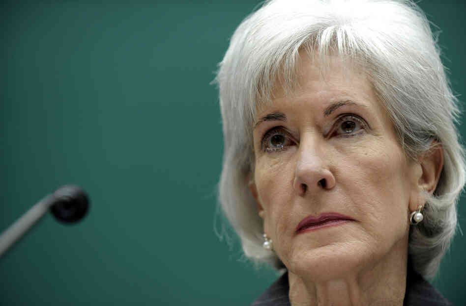 Health and Human Services Secretary Kathleen Sebelius testifies on Capitol Hill on Wednesday. Earlier today, Sebelius announced an inquiry into the agency's launch of the problem-plagued HealthCare.gov site.