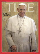 """Time magazine's """"person of the year"""" for 2013 is Pope Francis."""