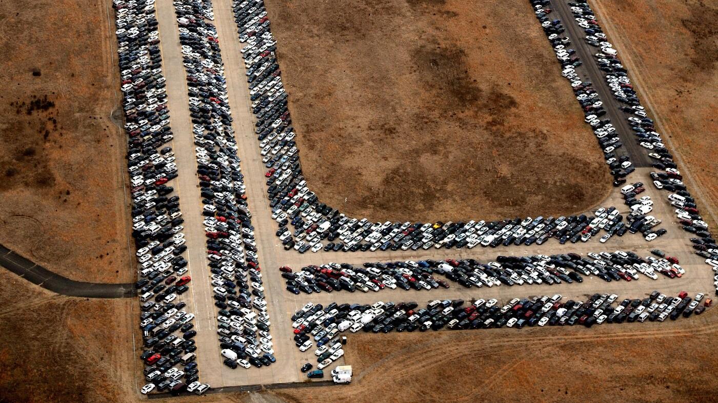Photo: Where Cars Go After A Flood