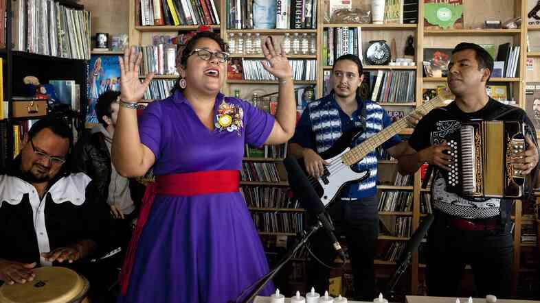 La Santa Cecilia performs a Tiny Desk Concert in November 2013.