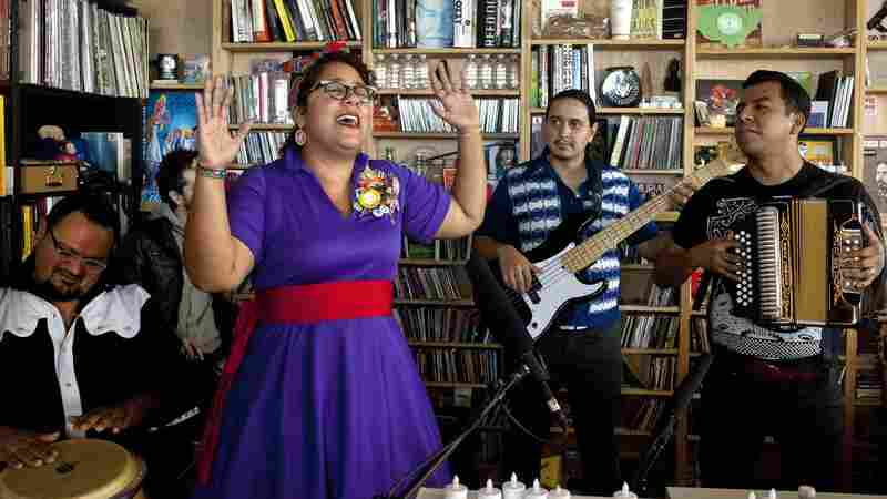 La Santa Cecilia performs a Tiny Desk Concert in November 2013.