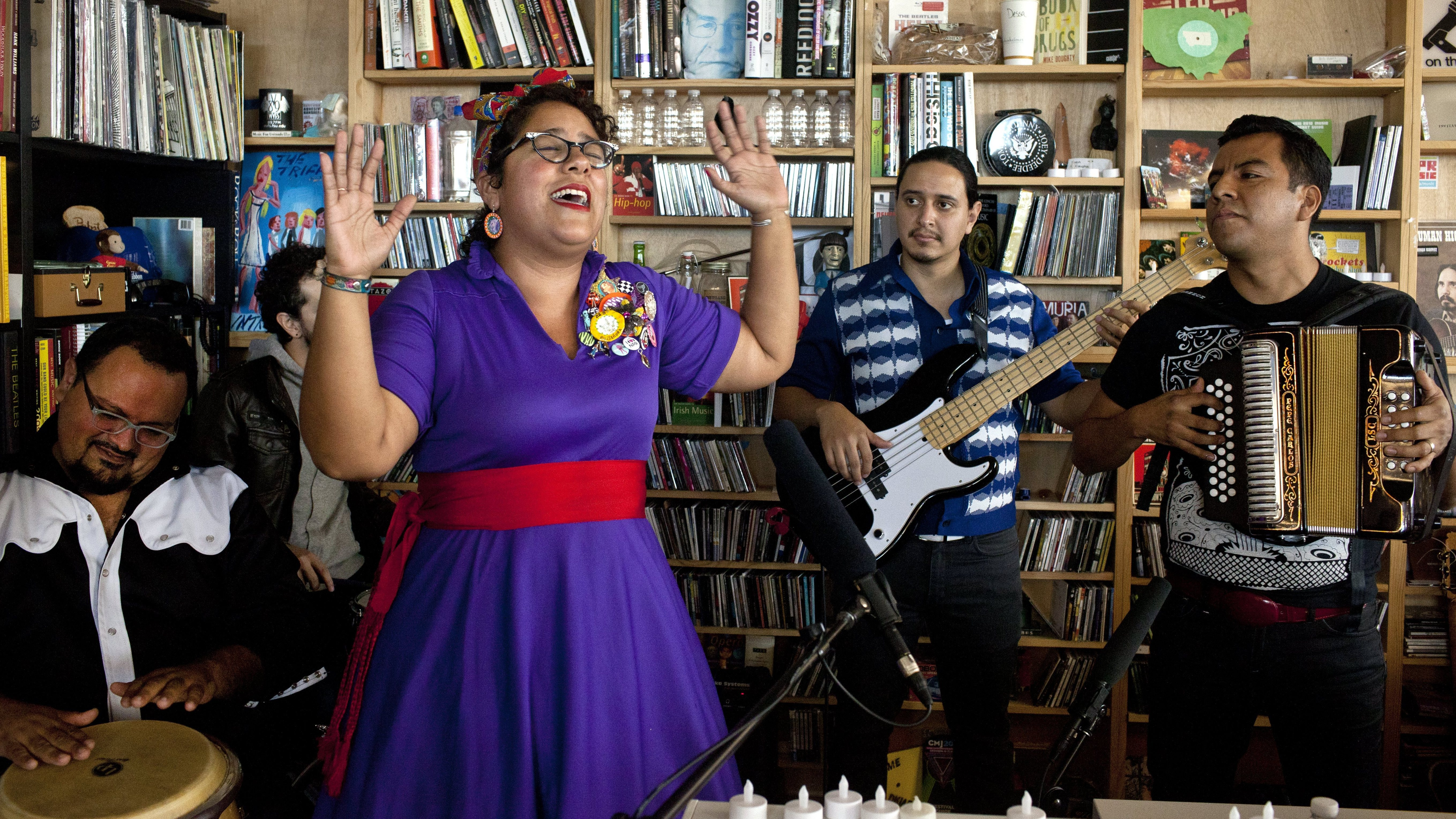 Andrea Echeverri: La Santa Cecilia: Tiny Desk Concert : NPR