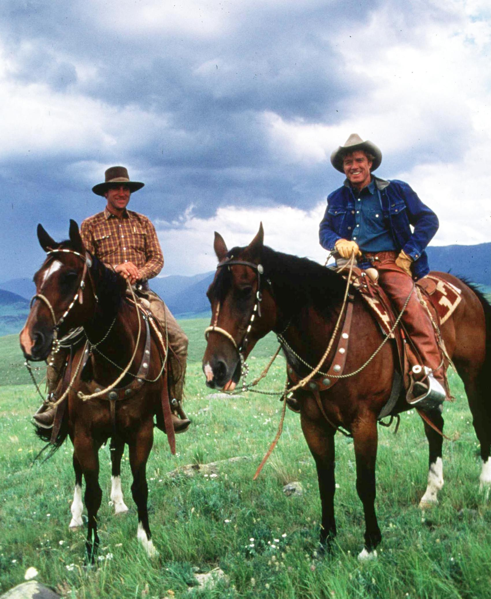 Redford (right) directed and starred in The Horse Whisperer in 1998. He's pictured above with real-life horse whisperer Buck Brannaman.