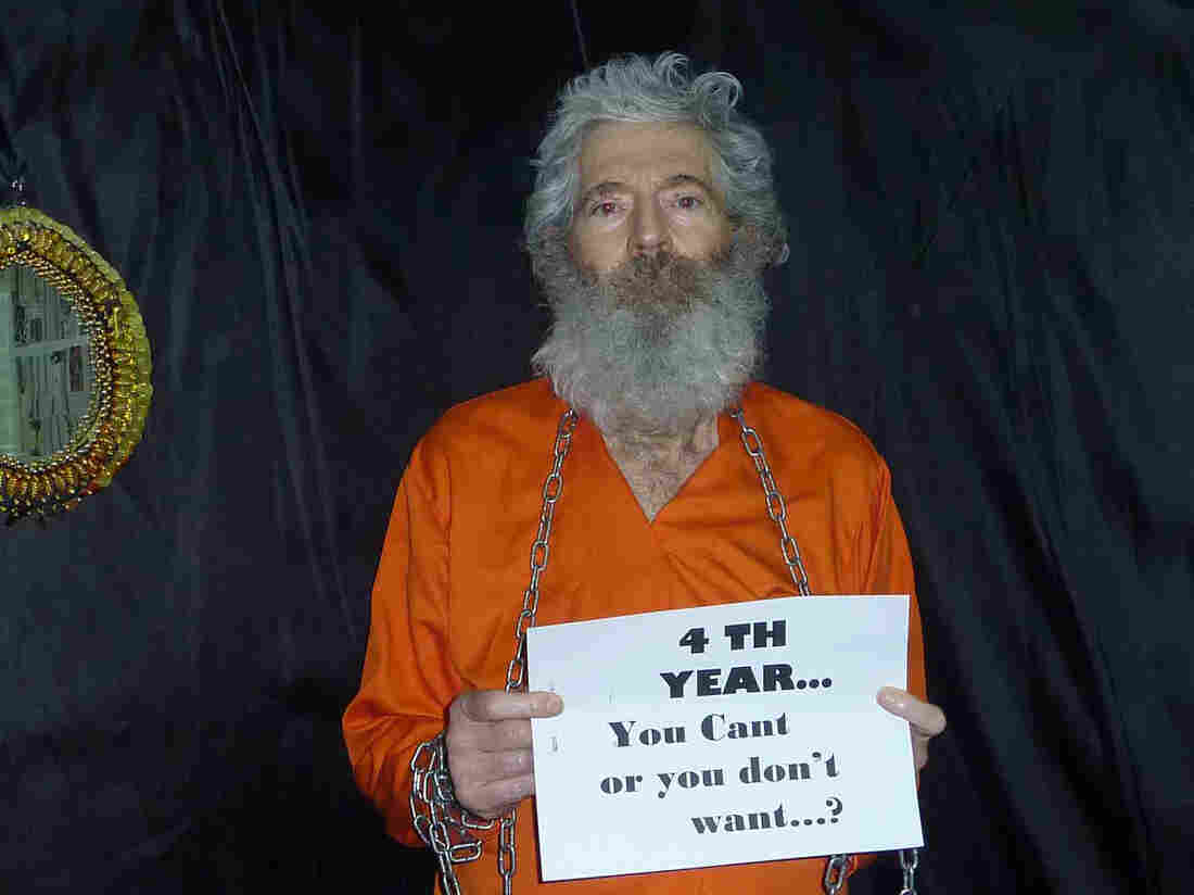 "A ""proof of life"" photo provided to the family of ex-FBI agent Robert Levinson in April 2011."