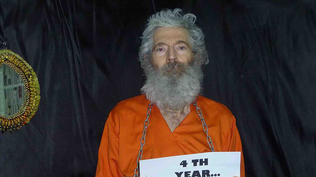 "A ""proof of life"" photo provided to the family of ex-FBI agent Robert Levinson in April 2011. (AP)"