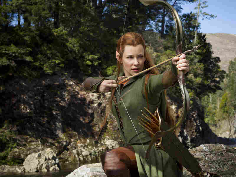 Among the additions the film makes to the original Hobbit story is Tauriel (Evangeline Lilly), a warrior and potential love interest for Legolas (Orlando Bloom).