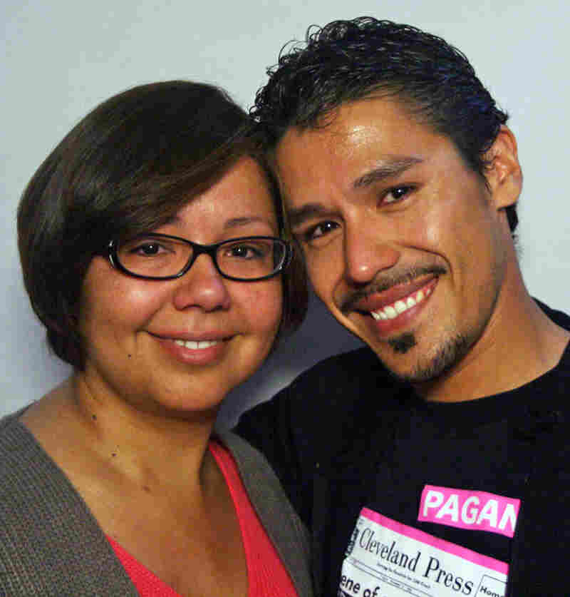 Maria Vasquez-Rojas with her brother, Francisco Vasquez, at StoryCorps in Los Angeles.