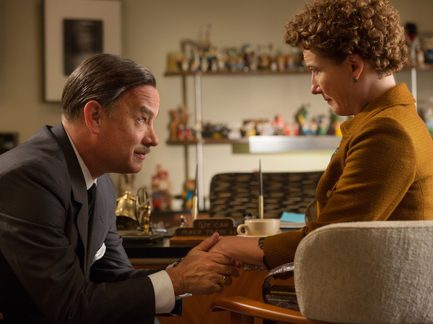 Chronicling the behind-the-scenes drama of the <em>Mary Poppins</em> film, <em>Saving Mr. Banks </em>stars Tom Hanks and Emma Thompson as Walt Disney and author P.L. Travers.