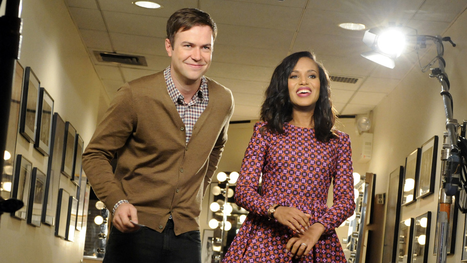 Kerry Washington (with Taran Killam) recently appeared on SNL to spoof the show's lack of a black female cast member. (AP)