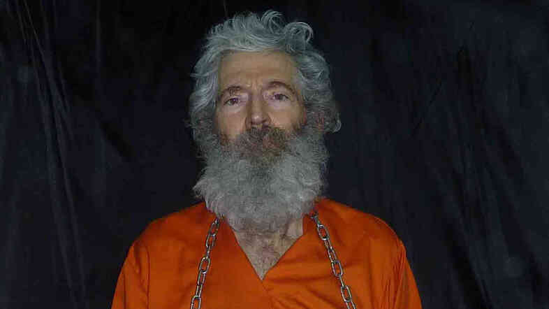 A photo provided by Robert Levinson's family shows the retired FBI agent in captivity in April 2011.