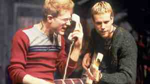 Anthony Rapp (left) and Adam Pascal perform a scene from the New York Theatre Workshop production of Rent in 1996.