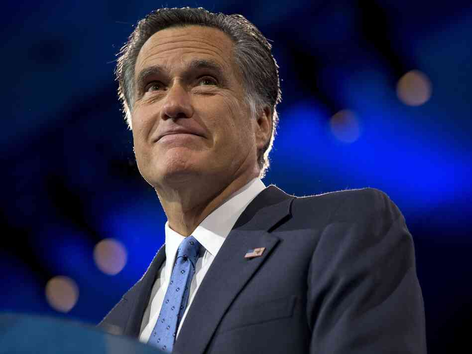 Mitt Romney speaks at the Conservative Political Action Conference on March 15. New research suggests Democrats and Republicans had diff