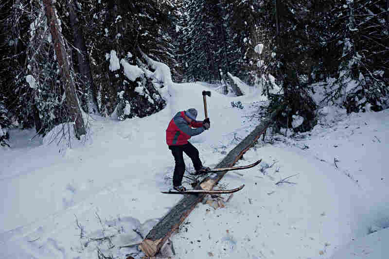 Tutored as woodsmen from boyhood, Altai men skillfully wield axes for all manner of chores, from chopping firewood to hewing lumber to build their cabins.