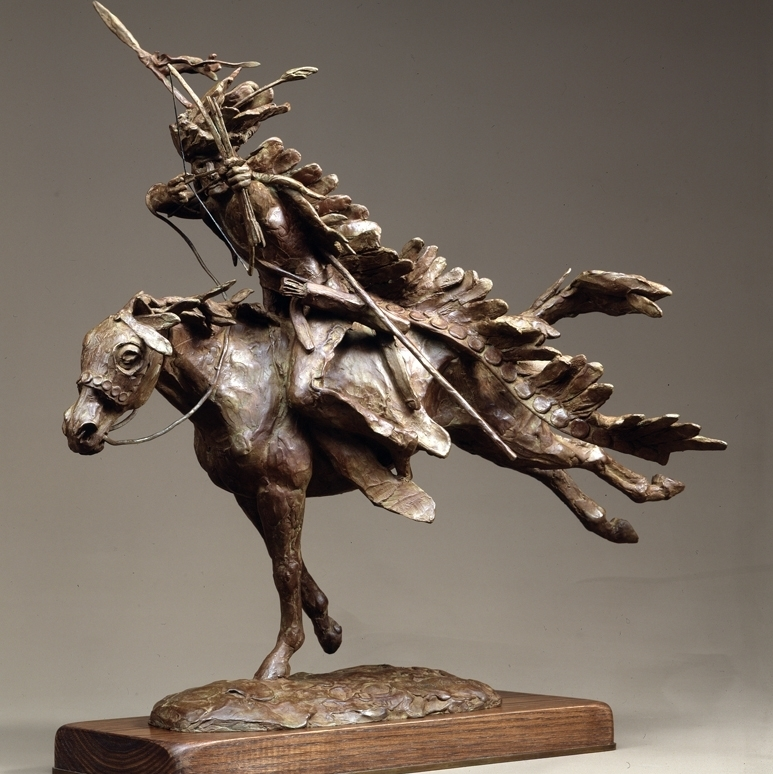 Dog Soldier, a Cheyenne Warrior is a sculpture Jackson created in 1983.