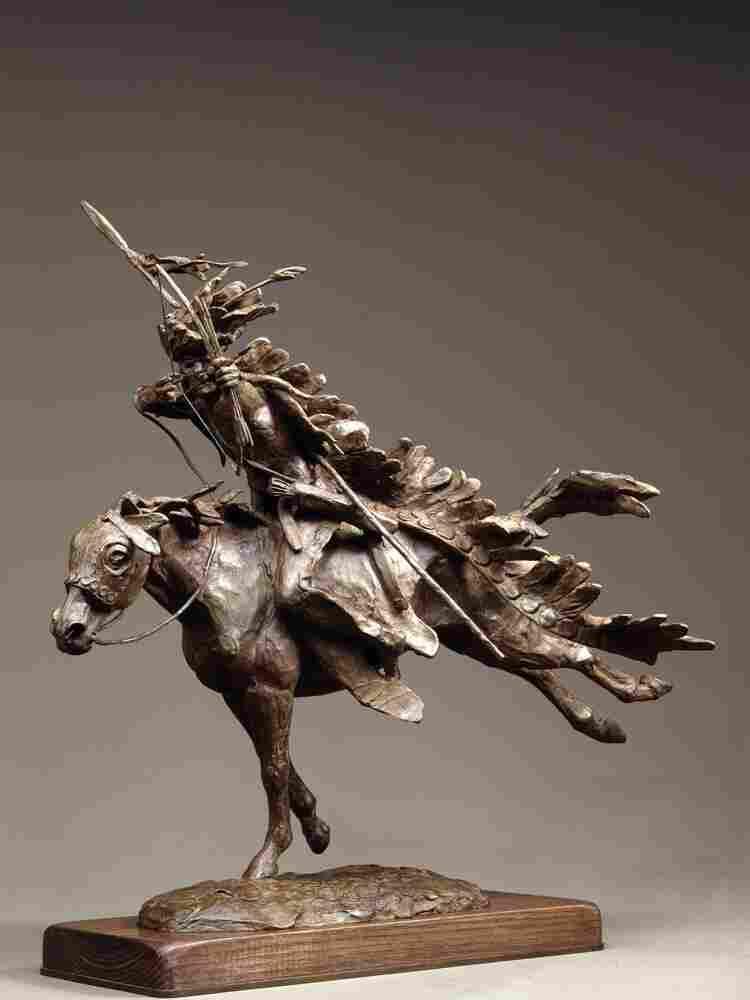 Dog Soldier, a Cheyenne Warrior is a sculpture Jackson created in 1983.