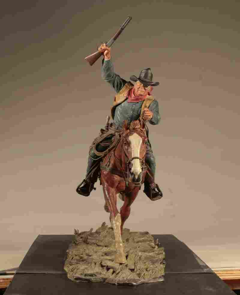 "Marshal is a piece modeled after U.S. Marshal Reuben ""Rooster"" Cogburn, a character played by John Wayne in the film, True Grit."