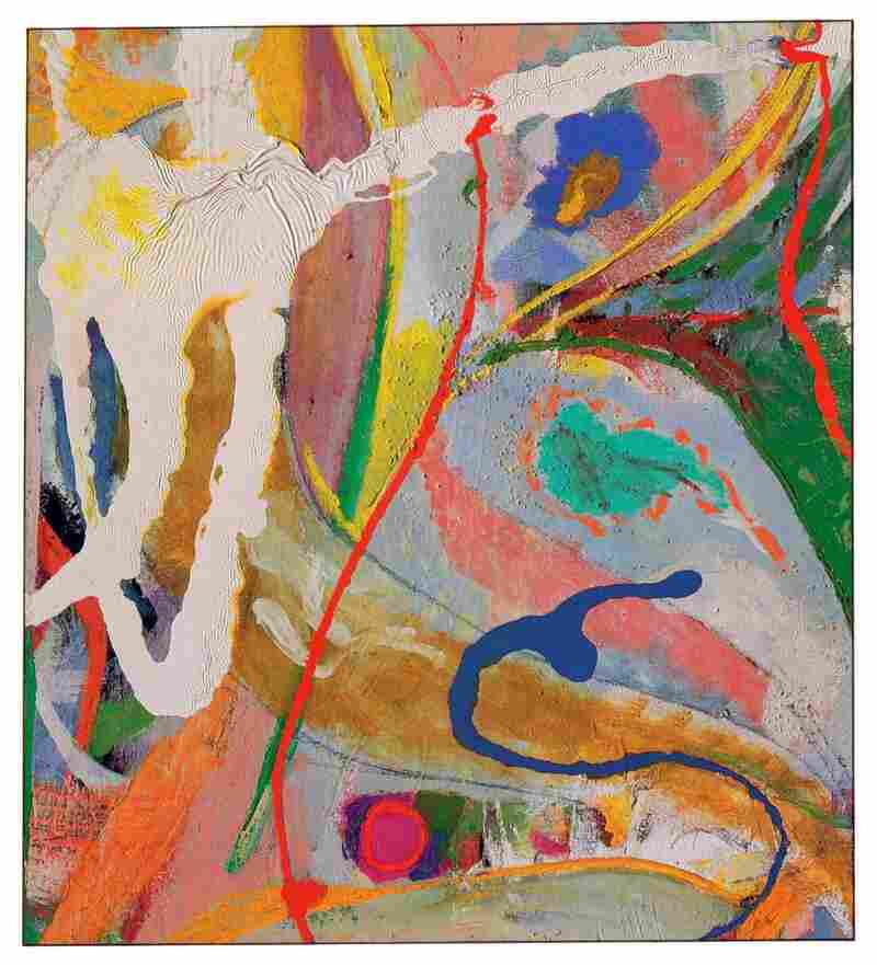 Jackson's 1951 Red, Yellow, and Blue is an oil and enamel on canvas piece that was shown in the historic 9th Street Show.