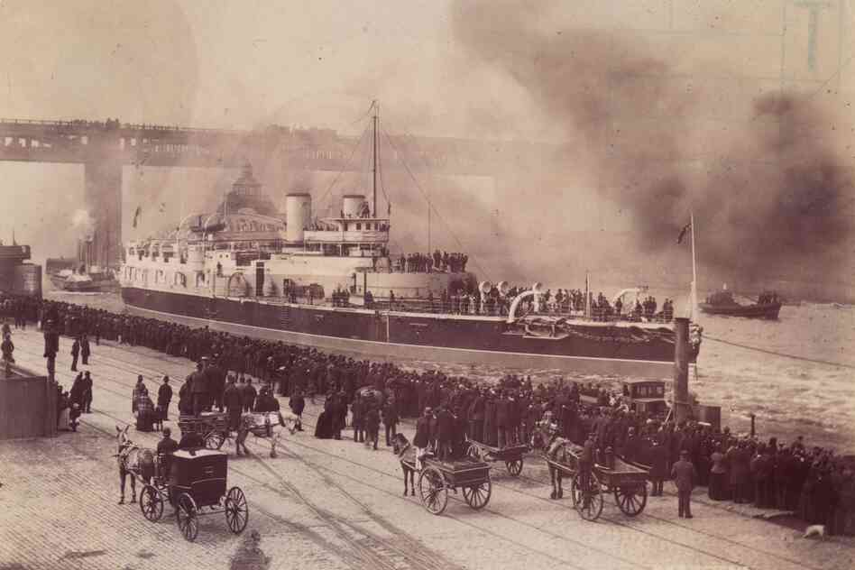 The British Isles are an archipelago measuring about 900 miles from top to toe, with a history tied inextricably to the waters that surround them. This image from circa 1887 shows the Battleship HMS Victoria sailing past the Swing Bridge at Newcastle upon Tyne, where it was built. The area, on England's northeast coast, was once a major shipping and shipbuilding hub.