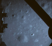 A picture of the moon surface taken by the on-board camera of lunar probe Chang'e-3 on Saturday.