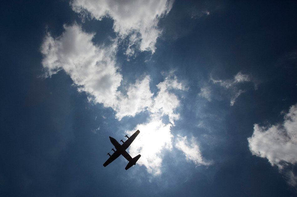 A military aircraft carrying Mandela's body departs from Waterkloof military airbase for the Eastern Cape on Saturday in Pretoria, South Africa.