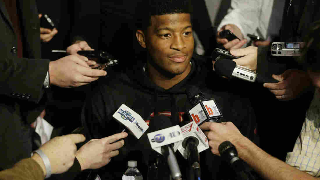 Florida State University quarterback Jameis Winston faced an accusation of rape, but the state of Florida decided not to press charges following an investigation.